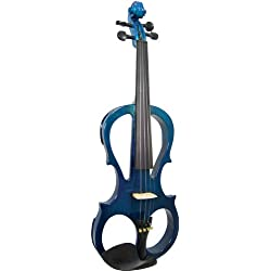 Valentino VVE-008B - Violín eléctrico 4/4, color azul
