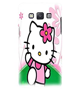 Printvisa Pink Kitty Back Case Cover for Samsung Galaxy E7::Samsung Galaxy E7 E700F