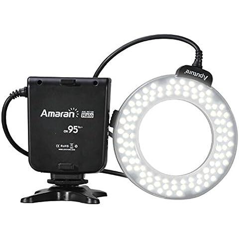 MENGS® Aputure Amarán halo HN100 CRI 95 LED flash de anillo para Nikon DSLR