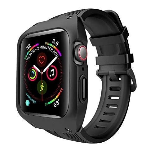 Beisoug Silikonarmbanduhr ArmbanduhrBelt + Uhrengehäuse für Apple iWatch 4 44mm