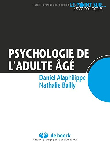 Psychologie de l'adulte âgé