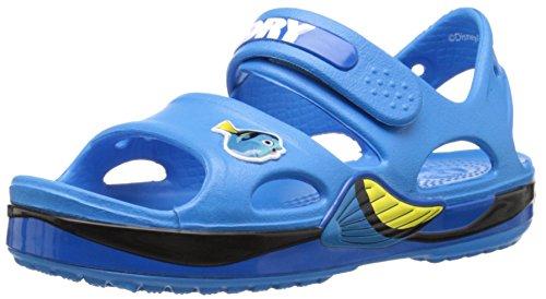 Crocs crocband ii finding dory zoccoli unisex per bambini, colore blu (ocean 456), taglia 30-31 eu