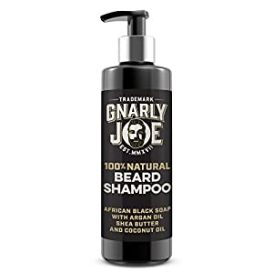 Gnarly Joe 100% Natural Beard Shampoo | African Black Soap | Argan Oil, Shea Butter & Coconut Oil | Perfect For Sensitive Skin (250ml)