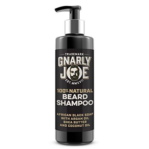 Gnarly Joe Bart-Shampoo, 100% natürlich | afrikanische schwarze Seife | Arganöl, Shea Butter und Kokosnussöl | ideal für empfindliche Haut | 100ml