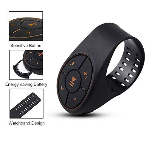 Preisvergleich Produktbild Starsou Lenkrad Fernbedienung Bluetooth Musik Audio Adapter Controller Auto Media Taste, Schwarz,  ANX2032