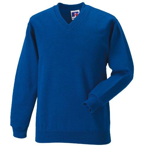 Jerzees Schoolgear Kinder Pullover mit V-Ausschnitt (9-10 Jahre) (Helles Royalblau) - Jerzees Sweatshirt Winter
