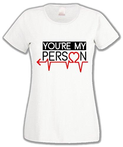 T-shirt donna - You're my person Sei la mia persona Grey's anatomy - by L'Arcobaleno di Luci Bianco