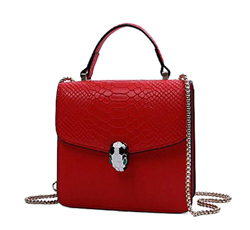 Coccodrillo Borsa In Pelle Modello Ms. Red