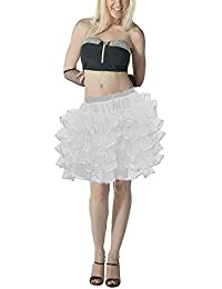 Crazy Chick Adult Women 5 Layer White Angel Tutu Skirts Ballet Dance Fairy Fancy Dress
