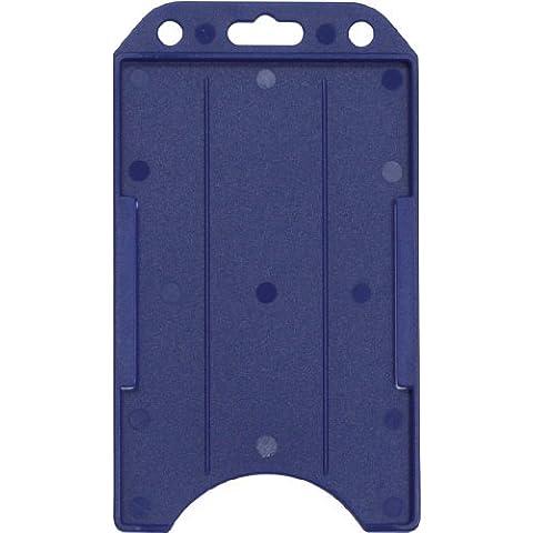 1840-8162 Royal Blue Rigid Plastic Vertical Badge Holder (100pk) by Brady People ID