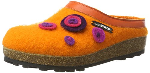 Giesswein Calau, Chaussons Mules Mixte Adulte, Orange
