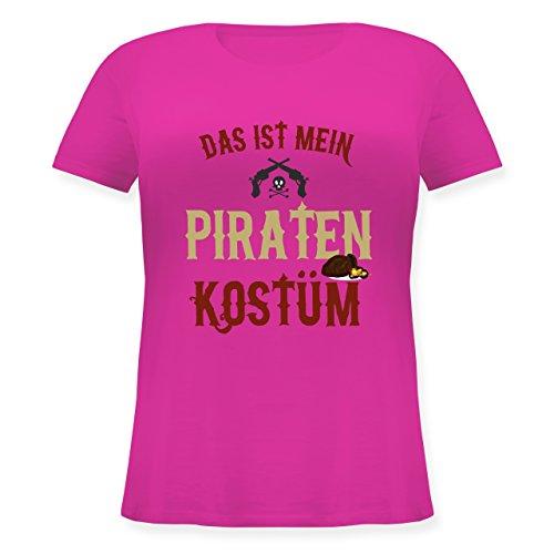 Karneval & Fasching - Das ist Mein Piraten Kostüm - XL (50/52) - Fuchsia - JHK601 - Lockeres Damen-Shirt in großen Größen mit ()