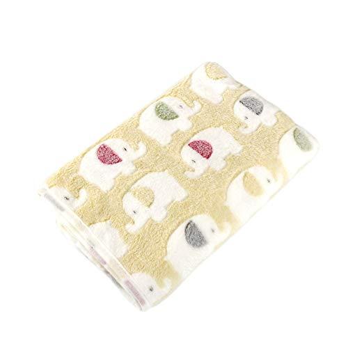Westeng 1 Stück Hundematte Weiche Warme Fleece-Haustier-Decke Pet Mat für Hund und Katze Size 90 * 110CM (Gelb L) (Gelb-decken)