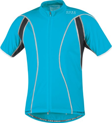 Gore Bike WEAR Herren Shirt Oxygen FZ Reflex, Atoll Blue/Black, S, 0_5799