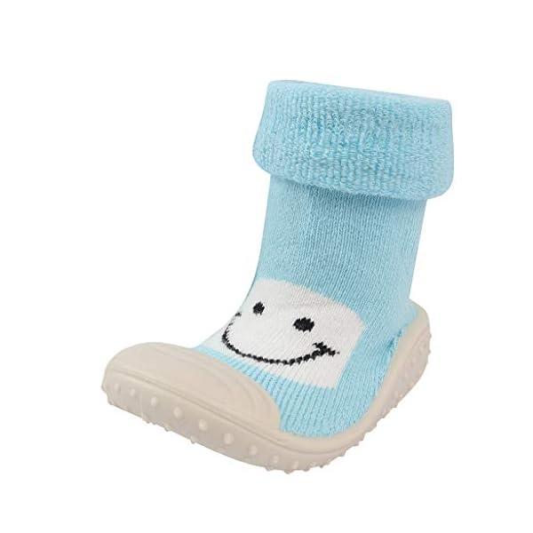 Mitlfuny Niños Niñas Invierno Calentar Suela de Goma Tejer Calcetines de Piso para Recién Nacido Bebé Antideslizantes… 1