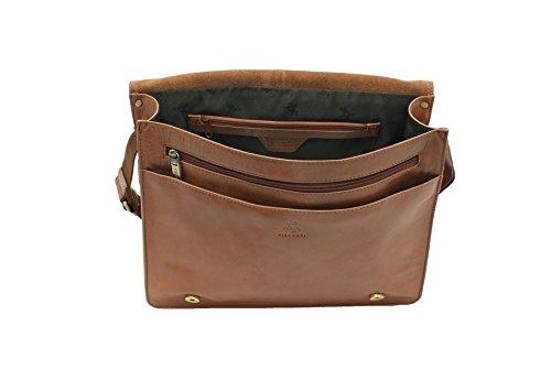 Visconti Merlin Collezione CARTER Leather A4 Laptop / Messenger Bag ML23 Tan Tenné