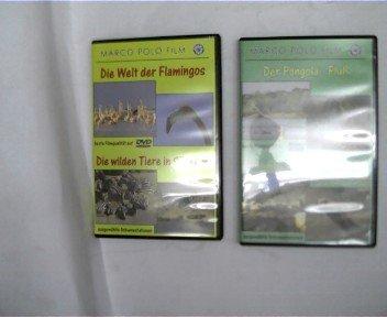2 DVD\'s: 1. Der Pongola - Fluß, Frühlingserwachen am Kap der guten Hoffnung, Marco Polo Film; 2. Die Welt der lamingos, Die wilden Tiere in Südkenia, Marco Polo Film,
