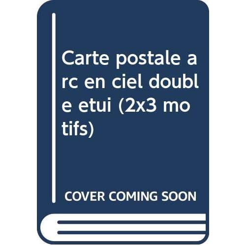 Carte postale arc en ciel double etui        (2x3 motifs)