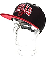 Mitchell And Ness - Casquette Snapback Homme Chicago Bulls Arch Nubuck - Black/Red