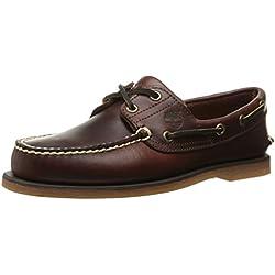 Timberland Icon Classic 2-Eye - Zapatos de cuero para hombre, Marrone (Braun (Rootbeer Smooth))
