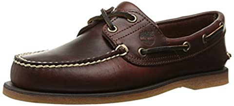 Timberland Classic 2-Eye, Men's Boat, Brown Leather, 9 UK (43.5 EU)