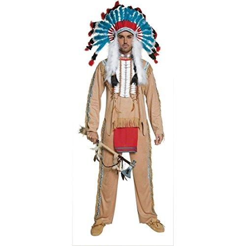 Imagen de traje de indio apache disfraz jefe tribu vestuario alternativa