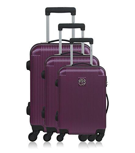 Les P'tites Bombes Set di valigie, Violet (viola) - BD-12245