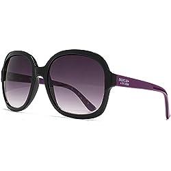 American Freshman Glamour Square Sonnenbrille in schwarz AFS008 One Size Purple Gradient