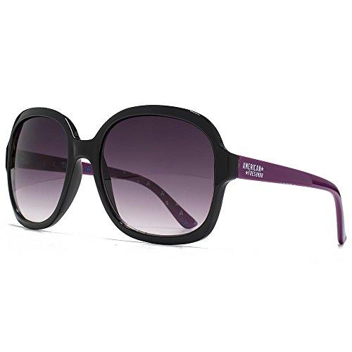 Animal Flip Flex Tips Full Frame lunettes de soleil en plastique noir sur violet ANI034 One Size Purple Gradient cK2AowYyG