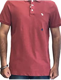 Abercrombie & Fitch Mens Short Sleeve Regular Fit Polo T-Shirts Colour Red Brown IMPORTED FROM USA