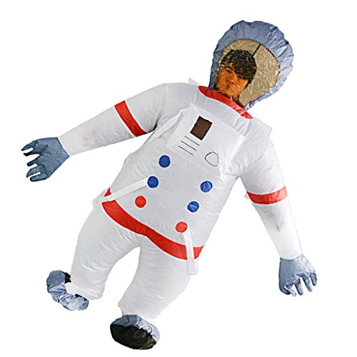 Astronaut Aufblasbares Körper Kostüm Overall Kostüm Fatsuit, Leicht und Klappbar (Fett Körper Suit Kostüm)