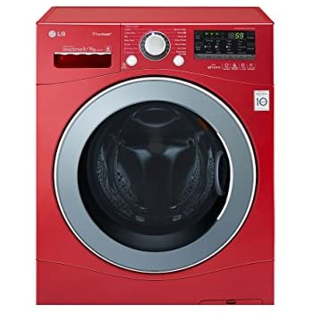 LG F14A8RDS29 Fully-automatic Front-loading Washing Machine (9 Kg, Apple Red)