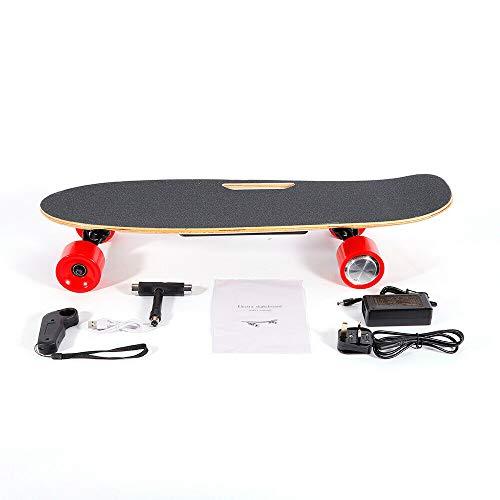 LiFuJunDong Skateboard Elektrisches City Scooter Elektrolongboard mit Fernbedienung und Motor 350W,Reichweite Ca. 10 km,Geschwindigkeit 20km/h -