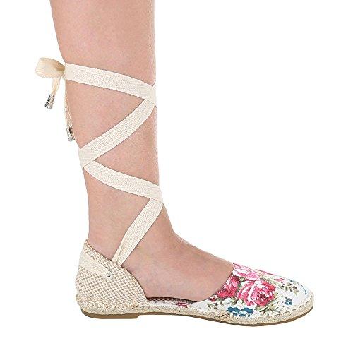 Ital-Design, Scarpe col tacco donna Bianco/Multicolore