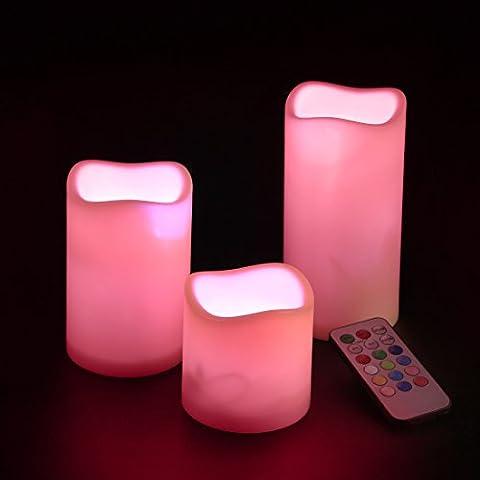 Andux Fernbedienung Kerzen Timing-LED-Kerzen Flameless Kerzen Geburtstagskerzen LEDLZ-01