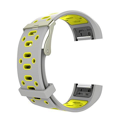 Pinhen Armband für Fitbit Charge 2, Silikagel, weiches Silikon, einstellbar, modisch, Ersatz für Sportarmband der Smartwatch (Fitness-Armband) Fitbit Charge 2 mit Pulsmesser