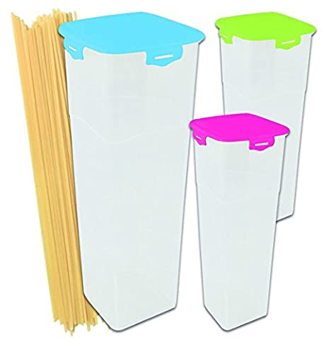 Storage box Sealed storage containers transparent high form colourful lid for spaghetti 2 litters 3