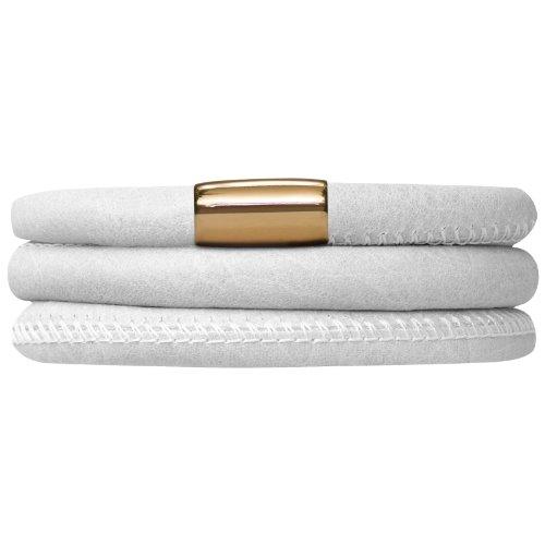 Endless Leather Bracelet 60cm, White