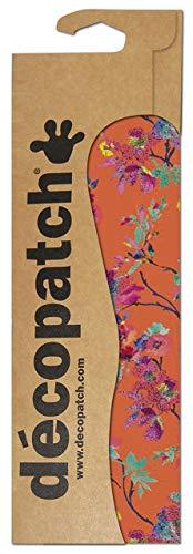 Decopatch - Papel Estampado para forrar (3 Unidades), diseño de Flores, Color Naranja