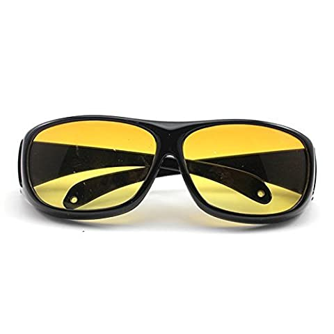 Leayao Unisexe HD Conduite de nuit Vision Care Yeux Lunettes de protection Lunettes de soleil (Jaune)