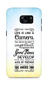 AMEZ life is like a camera Back Cover For Samsung Galaxy S7