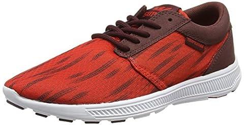 Supra HAMMER RUN, Unisex-Erwachsene Sneakers, Rot (RED/BURGUNDY - WHITE RBU), 39 EU (5.5 Erwachsene