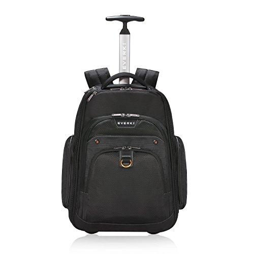 Everki Atlas – Laptop Rucksack auf Rollen / Rucksack Trolley für Notebooks von 13 bis 17,3 Zoll (33 – 43,9 cm) mit durchdachtem Fächer-Konzept und weiteren hochwertigen Funktionen, Schwarz Wheeled Backpack Für Laptop
