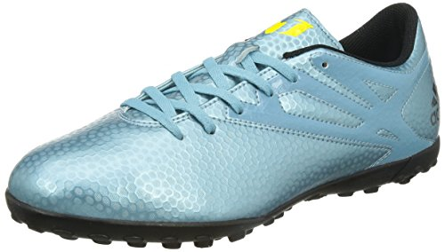 adidas - Messi15.4 Turf, Scarpe da Football americano Uomo Bleu (Matt Ice Met/Bright Yellow/Core Black)
