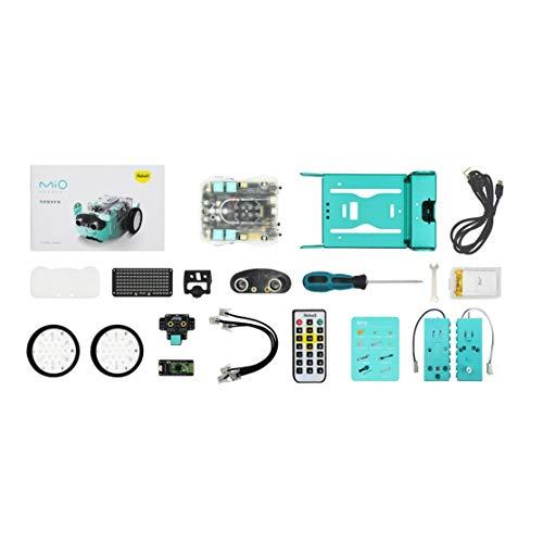 LouiseEvel215 RC Roboter Spielzeug Robo3 MIO STEAM Roboter Bluetooth Mbot APP Scratch Programmierung UNO-Brett-Roboter-Fernbedienung Roboter (Programmierung Scratch)