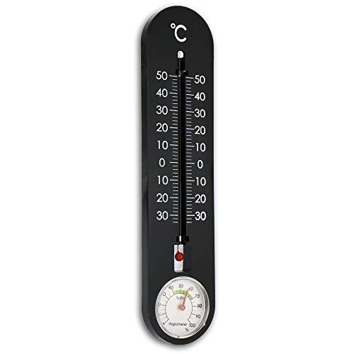 Mabax Analoges Thermometer & Hygrometer Außen Garten Wetterstation Wandthermometer