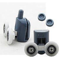 8PCS doppia doccia porta rulli/Runners/ruote superiore o inferiore 25mm diametro ruota