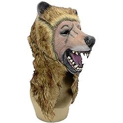 WHLMJ Máscara De Látex Bola De Disfraces De Halloween Tienda De Noche Oso Pardo Máscara