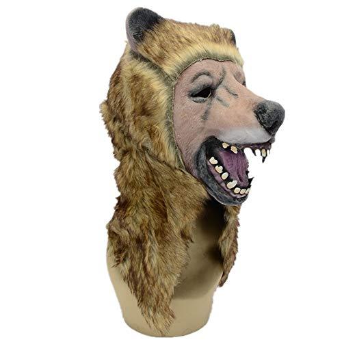 (WHLMJ Latex Maske Halloween Kostüm Ball Nacht Shop Braunbär Maske)