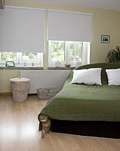 rollo kettenzugrollo sonnenschutz easy halbtransparent blickdicht 90cm breit x 210cm lang wei. Black Bedroom Furniture Sets. Home Design Ideas